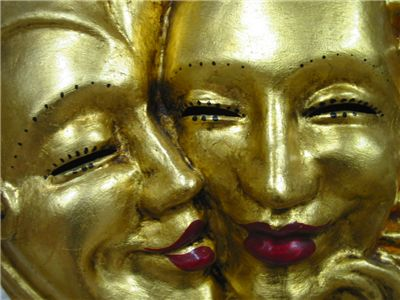 Gold Venetian Masks
